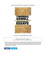 controversial essays hoover institution press publication  controversial essays hoover institution press publication on pdfslink