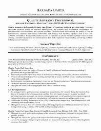 Quality Assurance Cover Letter Inspirational Resume Quality Control