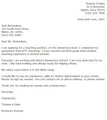 school cover letter ideas of cover letter for teacher with sample application letter for