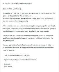 Thank You Letter After Face To Face Interview Sample Thank You Letters 60 Free Word Pdf Documents Downloads