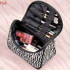 best professional cosmetic case bag zebra stripes printed makeup bags large capacity portable women cosmetic bags storage travel bags sv005497 under 4 62