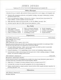 Sample Resume Office Manager Resume Letter Directory