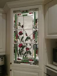 Flower Design Glass Door Green And Red Floral Stained Glass Stained Glass Flowers