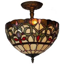 tiffany style 2 light pendant lamp 12 in wide