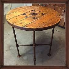 black iron furniture. Reclaimed Cable Spool Pub Table Furniture Repurposing Black Iron