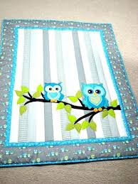 baby quilts patterns for boys simple girl quilt rag owl applique bedrooms