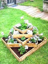 tiered flower bed multi tier planter tiered garden three planters box 3 wooden level flower beds tiered flower bed