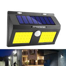 Best Outdoor Sensor Lights Australia 100 Cob Led Solar Power Wall Light Pir Motion Sensor Garden Security Outdoor Yard