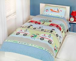 emergency vehicles poly cotton kids childrens boys girls single or double size duvet cover set