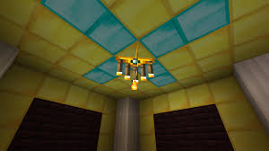 how to make a glowstone chandelier in minecraft pe designs
