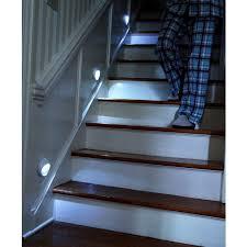 led stairway lighting. pathlights wireless led stair lights u2013 set of 3 starter led stairway lighting