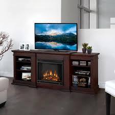 real flame 72 in w dark walnut fan forced electric fireplace