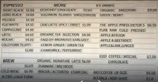 Please use the drop down menu below to view each location's. Vibe Coffee Roasters Menu Menu For Vibe Coffee Roasters Wairau Valley Auckland