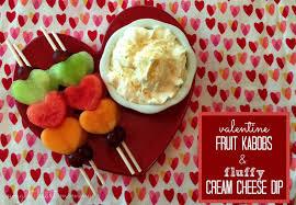 Valentine Fruit Valentine Fruit Kabobs Fluffy Cream Cheese Dip Valentinesday