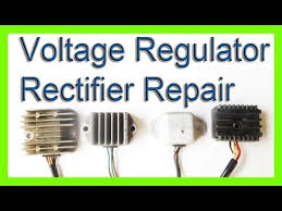 how to repair a <b>voltage rectifier regulator</b> charging system - YouTube