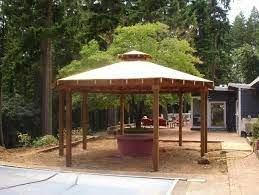 Simple Gazebo With Fire Pit Gazebo With Fire Pit Garden Fire Pit Fire Pit Pergola