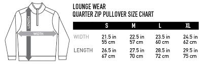 Pullover Size Chart 2undr Sizing Chart
