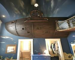 Decorating Pirate Bedrooms For Your Little Boys : Cool Boys Bedroom Idea  With Pirate Theme Using