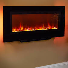 mounted electric fireplace zoom