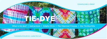Tie Dye Mixing Chart Tie Dye Instructions