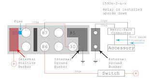 diy bussmann rtmr fuse block, part 4 wiring and schematics 6 Pin Relay Wiring Diagram bussmannrtmr_wiringdiagram_withconnectorandaccessory_web800 6 pin relay wiring diagram