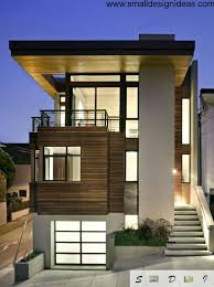 modern minimalist house facade high tech rustic and combination in