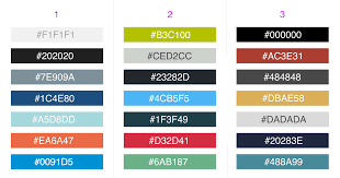 Color Contrast Combination Chart Flat Ui Color Palettes For Business Dashboards
