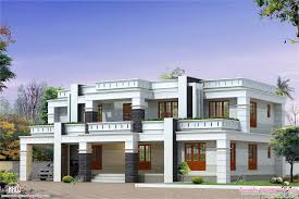 home flat roof house