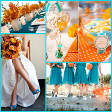 Coral Color Combinations Orange And Teal Coral And Tiffany Blue Green Reception Wedding
