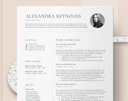 Resume Template For Mac Cv Template With Photo Professional Resume Templates Word Mac Pages Creative Resume Template Instant Download