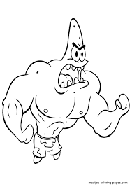 Patrick Star Coloring Pages Getcoloringpagescom