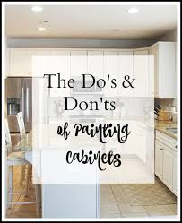 the do s and don ts to easily paint your kitchen cabinets a step by
