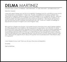 Immigration Paralegal Cover Letter Sample Cover Letter Templates