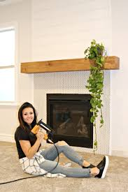 easy diy wood mantel you guys i did it i built this whole fireplace mantel all by myself i gave myself a high five when i was finished