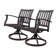 rocker patio chairs. allen roth set of 2 gatewood brown slat seat aluminum swivel rocker patio dining chairs
