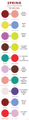 Fashion Colour Chart Spring Color Combinations Inspired By Pantone 2018 Colors By