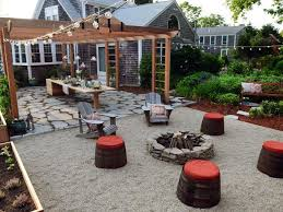Perfect Patio With Fire Pit And Pergola On Models Ideas