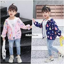 Áo khoác dù cho bé gái 1-5 tuổi – DoChoBeYeu.com