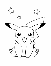 Small Picture Pokemon Coloring Pages Pikachu Jumping Gobel Coloring Page