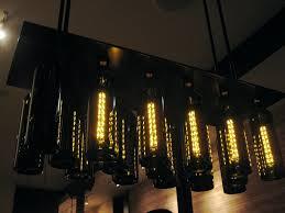 Wine Bottle Light Fixture Incredible Wine Bottles Chandelier Custom Wine Bottle Chandelier