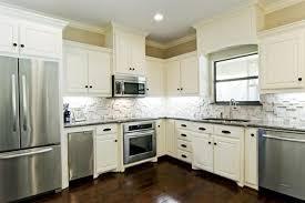 ... Ideas Stone Kitchen Backsplash With White Cabinets White Kitchen  Backsplash Tile Ideas: Marvelous ...