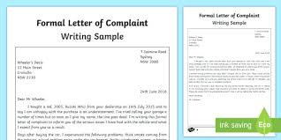 Download Formal Complaint Letter Template Example What Is And Pdf ...