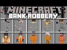 minecraft bank robbery mod fight off prisoners and watch cops save the bank