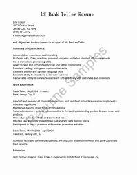 Bank Teller Resume Examples Inspirational Bank Teller Resume Example