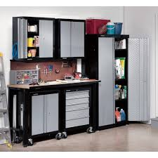 metal garage storage cabinets. black and silver color metal garage storage cabinet on wheels with wooden table for small spaces ideas cabinets o