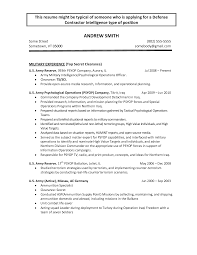 Army Infantry Resume Examples Free Resumes Tips