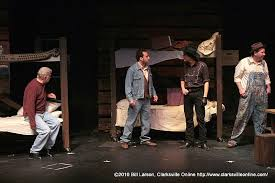 intense and powerful of mice and men now playing at the roxy candy jay doolittle george gili getz curley matthew patrick
