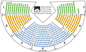 Solvang Theaterfest Seating Chart Seating Chart