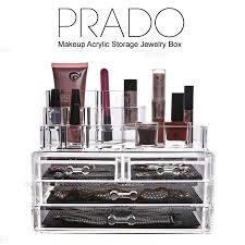 prado makeup acrylic storage box cosmetic jewelry organizer sf 1026b 84004 1065