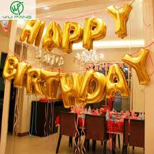 Cute Gold Alphabet Letters Balloons Happy Birthday Party Decoration Aluminum Foil Membrane Ballon Wholesales